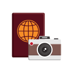 Passport & Camera Icon