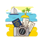 Passport & Visa Travel Icon