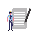 Police Clearance Document Icon